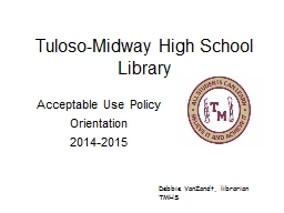 Tuloso -Midway High School Library