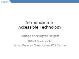 Introduction to  Accessible Technology