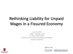 Rethinking Liability for Unpaid Wages in a Fissured Economy