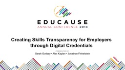 Creating Skills Transparency for Employers through Digital Credentials