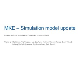 MKE – Simulation  model update