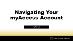 Navigating Your myAccess Account
