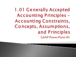 1.01 Generally  Accepted Accounting