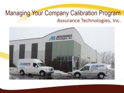Managing Your Company Calibration Program