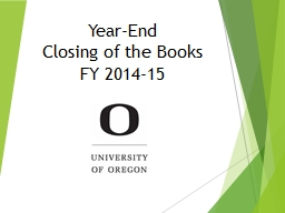 Year-End Closing of the Books
