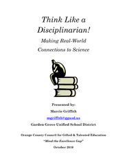 Think Like a Disciplinarian An academic disciplinari