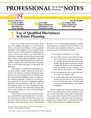 Use of Qualified Disclaimers in Estate Planning Issues