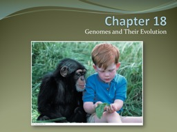 Chapter  18 Genomes and Their Evolution