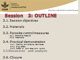 3.1. Session objectives