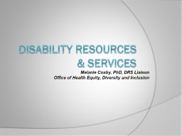 Disability resources & Services