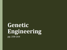 Genetic Engineering pp. 258-264