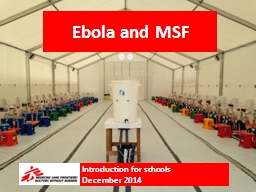 Ebola and MSF Introduction for schools