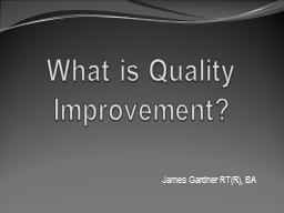 What is Quality Improvement?