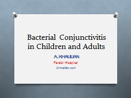 Bacterial Conjunctivitis in Children and Adults