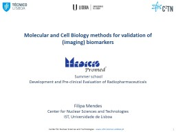 Molecular and Cell Biology methods for validation of (imaging) biomarkers