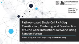 Pathway-based Single-Cell RNA-Seq Classification, Clustering, and Construction of Gene-Gene Interac