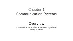 Chapter 1 Communication Systems