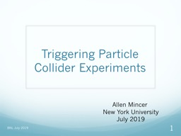 Triggering Particle  Collider Experiments