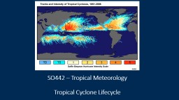 SO442 – Tropical Meteorology