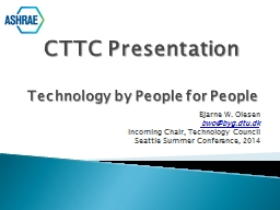 CTTC  Presentation Technology by People for People