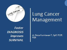 Lung Cancer Management dr.