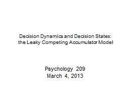 Decision Dynamics and Decision States: