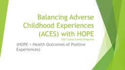 Balancing Adverse Childhood Experiences (ACES) with HOPE