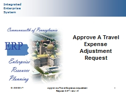 01/20/2017 Approve a Travel Expense Adjustment Request 6.07