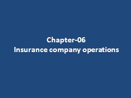 Chapter-06 Insurance company operations