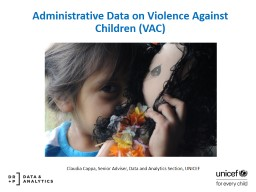 Administrative Data on  Violence