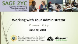 Working with Your Administrator