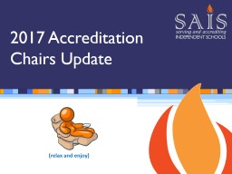 (relax and enjoy) 2017 Accreditation Chairs Update