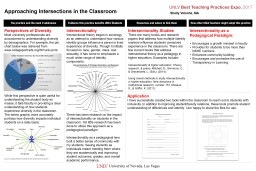 Approaching Intersections in the Classroom