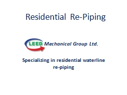 Residential Re-Piping