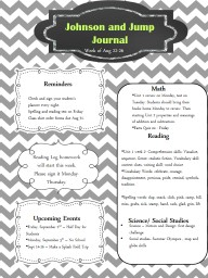 Johnson and Jump Journal