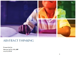 ABSTRACT THINKING Presented by