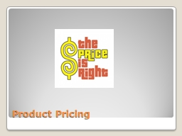 Product Pricing Technology Life Cycle