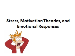 Stress, Motivation Theories, and Emotional Responses