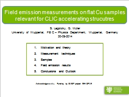 Field emission measurements on flat Cu samples relevant for CLIC accelerating
