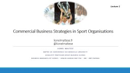Commercial Business  Strategies