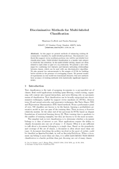 Discriminative Methods for Multilabeled Classication S