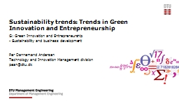 Sustainability  trends: Trends
