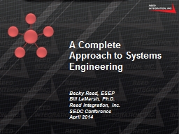 A Complete Approach to Systems