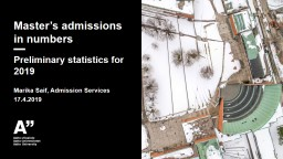 Master's admissions in