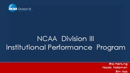 NCAA Division III Institutional Performance Program