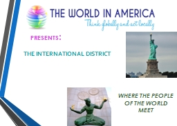 PRESENTS : THE INTERNATIONAL DISTRICT