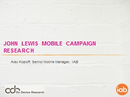 John  lewis  mobile campaign research