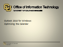 Outlook  2010 for  Windows: