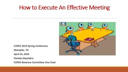 How to Execute An Effective Meeting