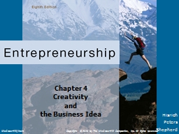Chapter 4 Creativity  and